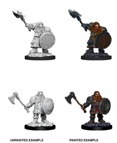 Male Dwarf Fighter: D&D Nolzur's Marvelous Unpainted Miniatures